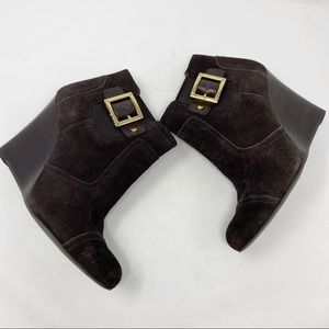 Tory Burch suede brown  boots booties